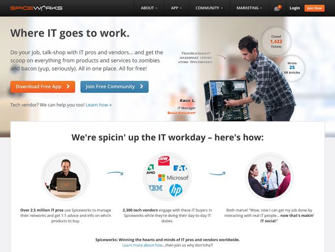 Spiceworks Website Rev